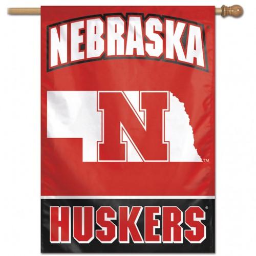 Nebraska Cornhuskers Banner 28x40 Vertical Alternate Design - Special Order