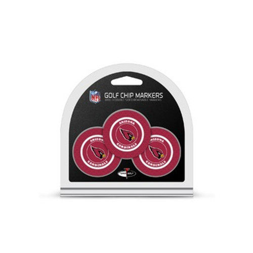 Arizona Cardinals Golf Chip with Marker 3 Pack - Special Order