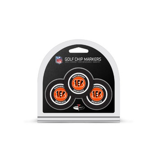 Cincinnati Bengals Golf Chip with Marker 3 Pack