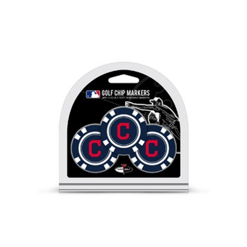 Cleveland Indians Golf Chip with Marker 3 Pack - Special Order