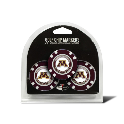 Minnesota Golden Gophers Golf Chip with Marker 3 Pack - Special Order