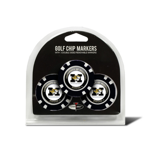 Missouri Tigers Golf Chip with Marker 3 Pack - Special Order