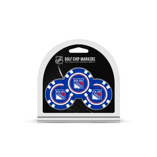 New York Rangers Golf Chip with Marker 3 Pack - Special Order