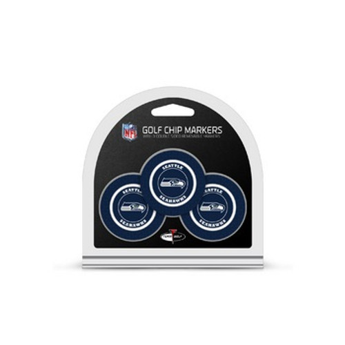 Seattle Seahawks Golf Chip with Marker 3 Pack