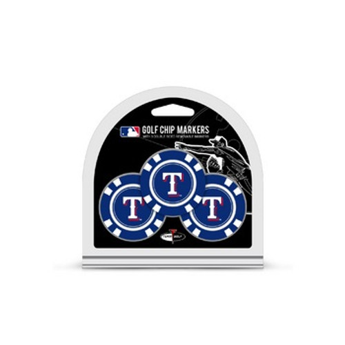 Texas Rangers Golf Chip with Marker 3 Pack - Special Order