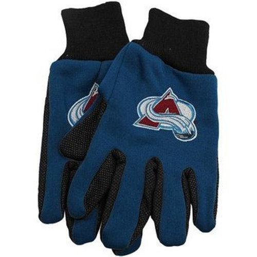 Colorado Avalanche Gloves Two Tone Style Adult Size - Special Order