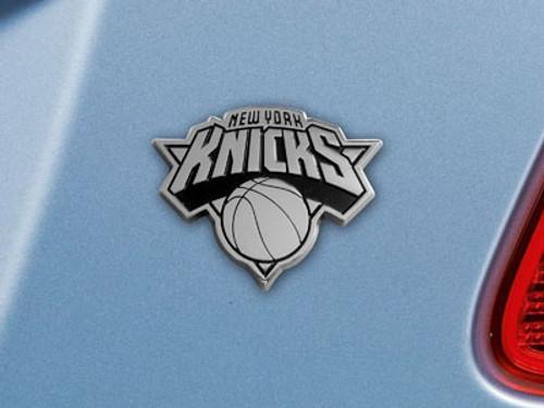 New York Knicks Auto Emblem Premium Metal Chrome