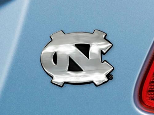 North Carolina Tar Heels Auto Emblem Premium Metal Chrome