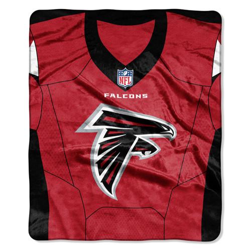 Atlanta Falcons Blanket 50x60 Raschel Jersey Design