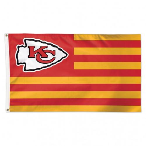 Kansas City Chiefs Flag 3x5 Deluxe Americana Design