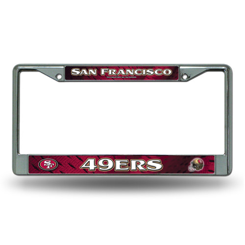 San Francisco 49ers License Plate Frame Chrome