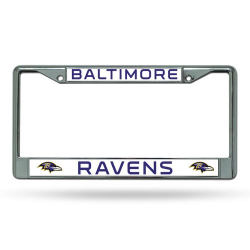 Baltimore Ravens License Plate Frame Chrome