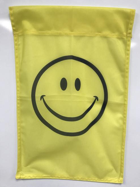 Smiley Face Flag 12x18 Garden Style - Special Order