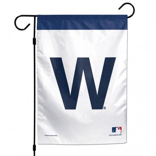 Chicago Cubs Flag 12x18 Garden Style W Design
