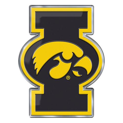 Iowa Hawkeyes Auto Emblem Color Alternate Logo
