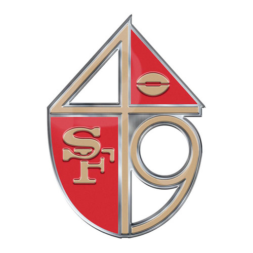 San Francisco 49ers Auto Emblem Color Alternate Logo