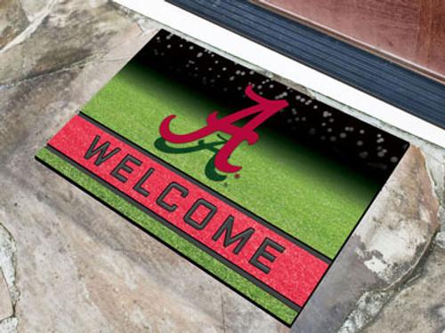 Alabama Crimson Tide Door Mat 18x30 Welcome Crumb Rubber - Special Order