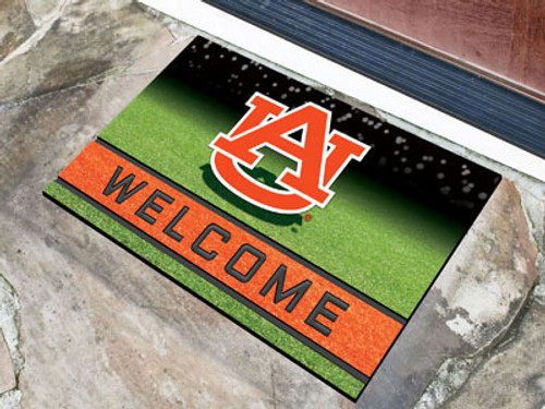 Auburn Tigers Door Mat 18x30 Welcome Crumb Rubber - Special Order