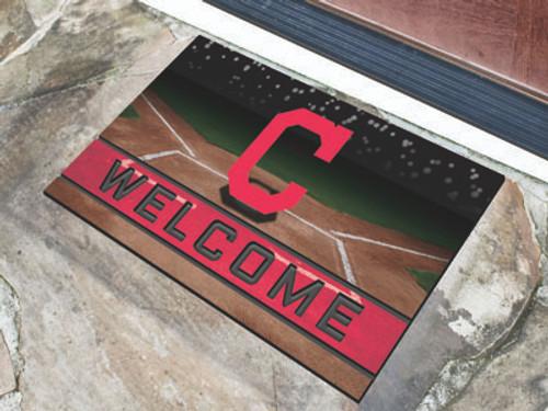 Cleveland Indians Door Mat 18x30 Welcome Crumb Rubber - Special Order