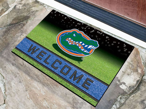 Florida Gators Door Mat 18x30 Welcome Crumb Rubber - Special Order