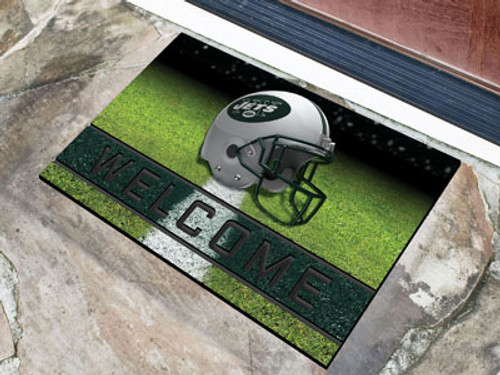 New York Jets Door Mat 18x30 Welcome Crumb Rubber - Special Order