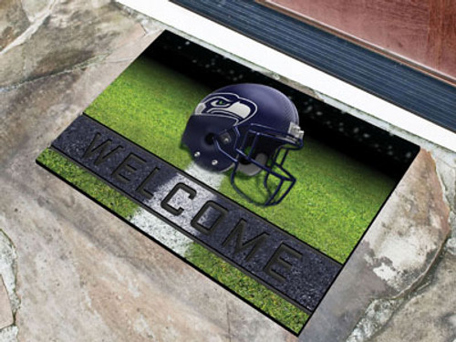 Seattle Seahawks Door Mat 18x30 Welcome Crumb Rubber - Special Order