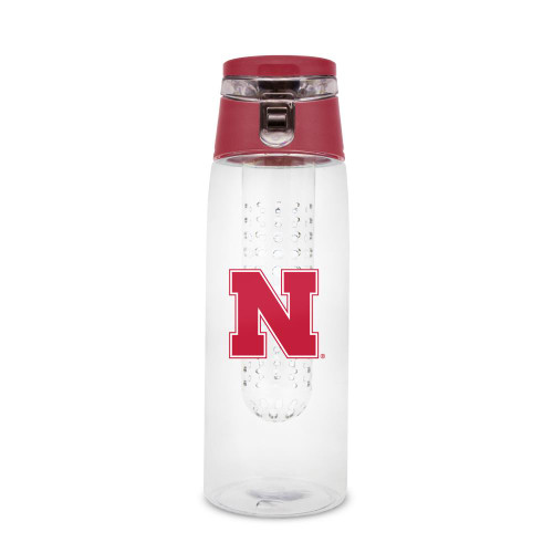 Nebraska Cornhuskers Sport Bottle 24oz Plastic Infuser Style