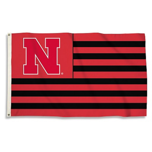 Nebraska Cornhuskers Flag 3x5 Multi Stripe