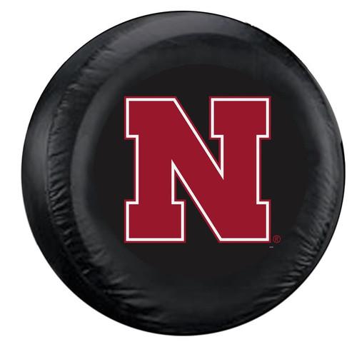 Nebraska Cornhuskers Tire Cover Large Size Black - Special Order