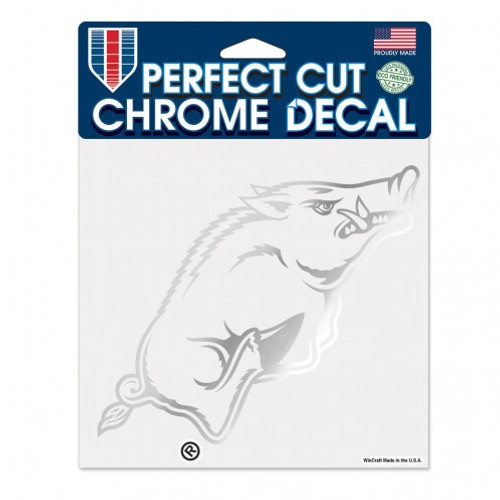 Arkansas Razorbacks Decal 6x6 Perfect Cut Chrome - Special Order