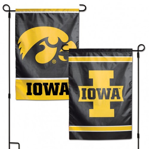 Iowa Hawkeyes Flag 12x18 Garden Style 2 Sided