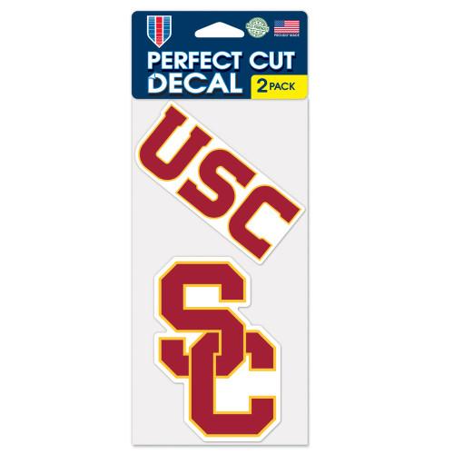 USC Trojans Decal Die Cut Set of 2