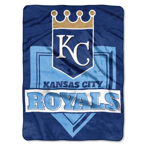 Kansas City Royals Blanket 60x80 Raschel Home Plate Design