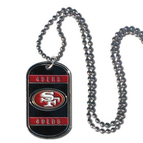 San Francisco 49ers Necklace Tag Style