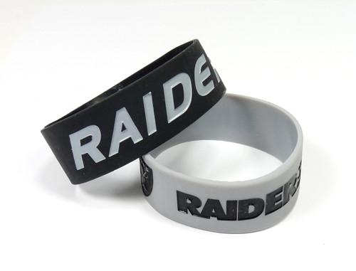 Las Vegas Raiders Bracelets 2 Pack Wide