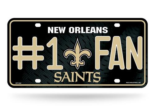 New Orleans Saints License Plate #1 Fan