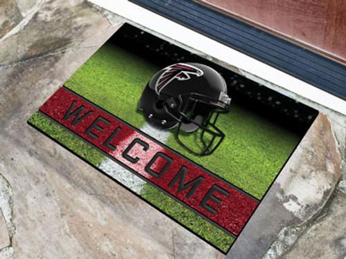 Atlanta Falcons Door Mat 18x30 Welcome Crumb Rubber - Special Order