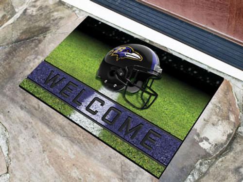 Baltimore Ravens Door Mat 18x30 Welcome Crumb Rubber - Special Order