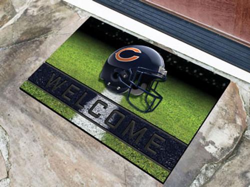 Chicago Bears Door Mat 18x30 Welcome Crumb Rubber - Special Order