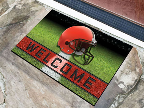 Cleveland Browns Door Mat 18x30 Welcome Crumb Rubber - Special Order