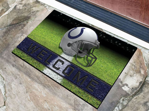 Indianapolis Colts Door Mat 18x30 Welcome Crumb Rubber - Special Order