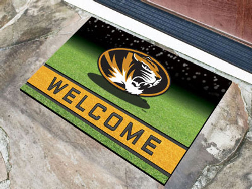 Missouri Tigers Door Mat 18x30 Welcome Crumb Rubber - Special Order