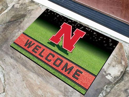 Nebraska Cornhuskers Door Mat 18x30 Welcome Crumb Rubber - Special Order