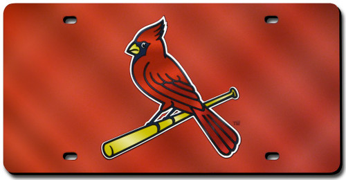 St. Louis Cardinals License Plate Laser Cut Red