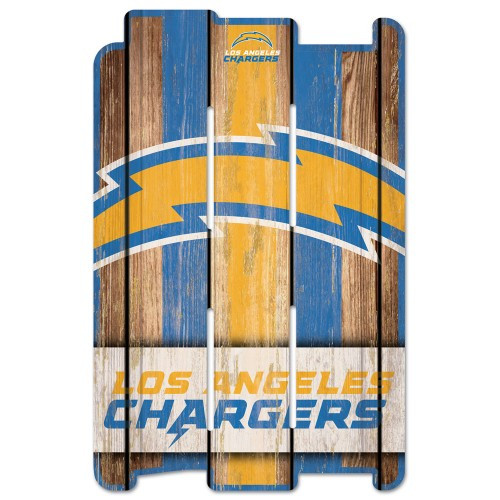 Los Angeles Chargers Sign 11x17 Wood Fence Style