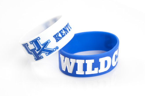 Kentucky Wildcats Bracelets 2 Pack Wide - Special Order