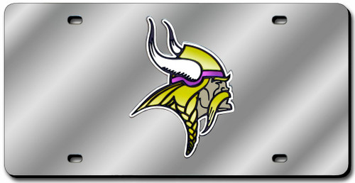 Minnesota Vikings License Plate Laser Cut Silver