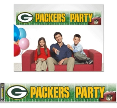 Officially licensed 12x65 party banner is durable for many uses. It is produced with a weather resistant non-tear material and is packaged in a roll for easy packaging and shipping. Made in the USA.. Made By Wincraft, Inc.