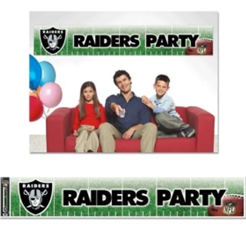 Las Vegas Raiders Banner 12x65 Party Style