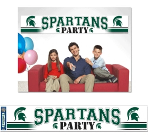 Michigan State Spartans Banner 12x65 Party Style